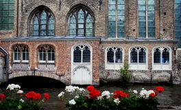 Canals of Bruges Stock Images