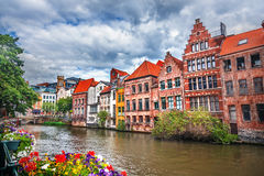 Canals of Gent. View of canals of Gent, Belgium royalty free stock photo