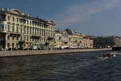 Canals. Buildings line the Canals of Saint Petersburg, Russia royalty free stock photo
