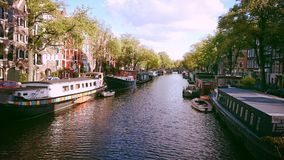 Canals colour life Stock Images