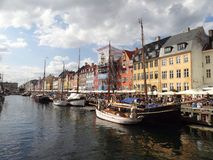 Canals of Copenhagen. Royalty Free Stock Image