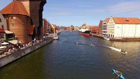 Canals of Gdansk, top view