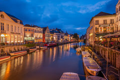 Canals in Gent. The picturesque canals in the historical city centre of Gent/Ghent in Belgium Royalty Free Stock Photography