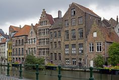 Canals in Ghent City Stock Photography