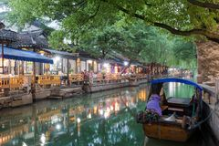 The canals of the historical watertown of Zhouzhuang, close to Shanghai, China Stock Images
