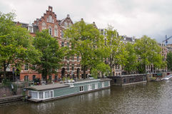 Canals and Houseboat Royalty Free Stock Images