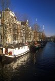 Canals and houseboats in Amsterdam, Holland Royalty Free Stock Photography