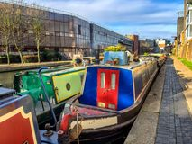 Canals in London on the way to Camden,. UK Royalty Free Stock Image
