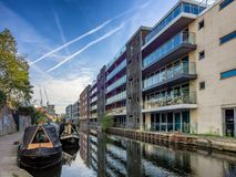 Canals in London on the way to Camden,. UK Stock Images