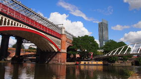 Canals in Manchester, UK. Manchester might not be as big a tourist magnet as London, but its mixture of Victorian architecture, industrial heritage and great