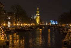 Canals by night. Amsterdam. Stock Image