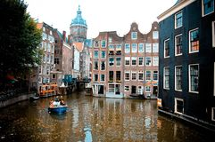 Canals Of Amsterdam Royalty Free Stock Photos