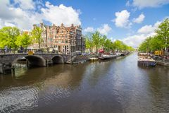 Free Canals Of Amsterdam Capital City Of The Netherlands Royalty Free Stock Image - 90149796