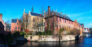 Canals and old buildings of Bruges, Belgium Royalty Free Stock Photography