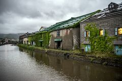 Canals of Otaru Japan, Hokkaido, Japan royalty free stock image