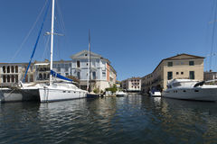 Canals in Port Grimaud, France Stock Image
