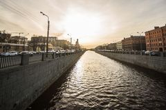 Canals and rivers of St. Petersburg Royalty Free Stock Photos