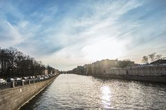 Canals and rivers of St. Petersburg Royalty Free Stock Photography