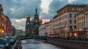 Canals of Saint Petersburg. Time-lapse stock footage