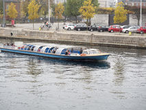 Canals sightseeing boat, Copenhagen royalty free stock photos