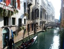 Canals in Venice royalty free stock image
