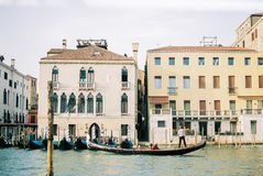 The canals of Venice with Gondolas royalty free stock photos