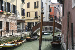 Canals of Venice with gondolas Royalty Free Stock Photo