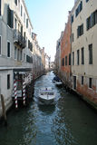 Canals of Venice. Italy, with boat Royalty Free Stock Photos