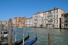 Canals of Venice. Italy, with boat Royalty Free Stock Photography