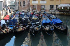 Canals of Venice. Italy, with boats Royalty Free Stock Image