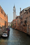 Canals of Venice. Italy, with boats Royalty Free Stock Photo