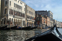 Canals of Venice. Italy, with boats Royalty Free Stock Photos