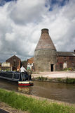 Canalside bottle kiln - Old Industrial England stock images