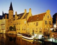 Canalside budynki, Bruges Fotografia Royalty Free