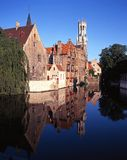 Canalside buildings, Bruges. Stock Images