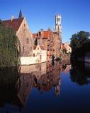 Canalside buildings, Bruges. Stock Images