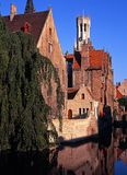 Canalside buildings, Bruges, Belgium. Stock Image
