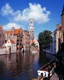 Canalside buildings, Bruges. Stock Photography