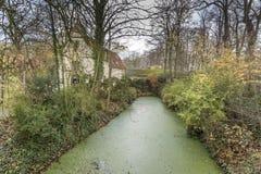 Canalside byggnader Bruges Royaltyfria Bilder
