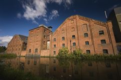 Canalside factory Royalty Free Stock Photography
