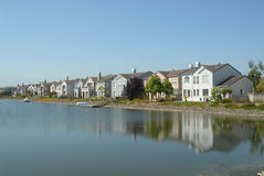 Canalside homes Royalty Free Stock Photo