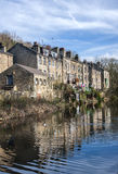 Canalside houses,calderdale, Stock Images