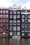 Canalside houses Royalty Free Stock Photography