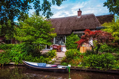 Canalside Museum in Giethoorn. Giethoorn; also known as the Venice of Holland or the Venice of the North; is a beautiful village in the Netherlands Stock Images
