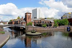 Canalside pub, Birmingham. Royalty Free Stock Photography