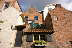 Canalview at these old houses Stock Photography