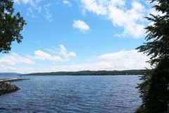 Cananadaigua Lake view Royalty Free Stock Images