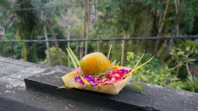 Canang Sari (offre indoue) sur Bali Images libres de droits
