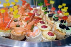 Canapé or Petit four Royalty Free Stock Photo