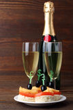 Canapés and champagne Royalty Free Stock Image